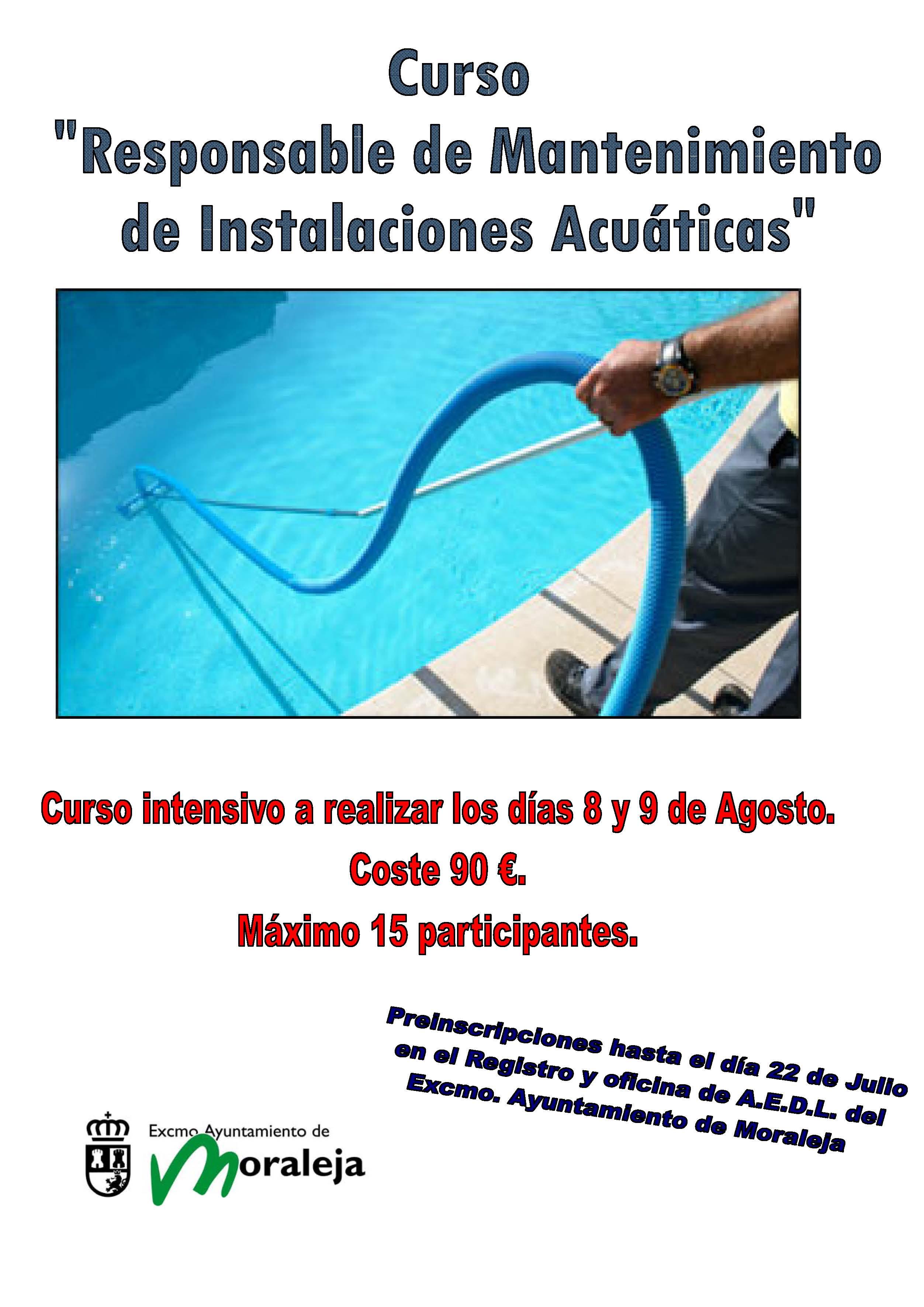 Cursos en moraleja para socorrista y mantenimiento de for Curso piscinas