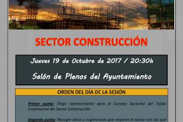 CONVOCATORIA REUNIÓN SECTOR CONSTRUCCIÓN