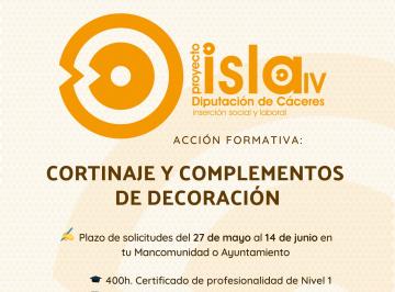 PROYECTO ISLA IV EN MORALEJA CORTINAJE Y COMPLEMENTOS DE DECORACIÓN