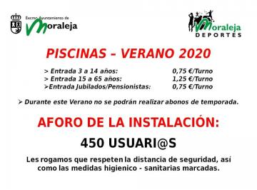 APERTURA DE LA PISCINA MUNICIPAL CLORADA. VERANO 2020