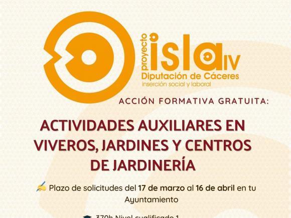 """ACCION FORMATIVA """"ACTIVIDADES AUXILIARES EN VIVEROS, JARDINES Y CENTROS DE JARDINERÍA"""""""