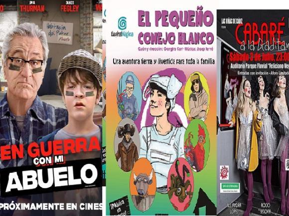 ACTIVIDADES CULTURALES DE VERANO DESDE EL DÍA 1 AL 3 DE JULIO, CINE, TEATRO Y CABARÉ