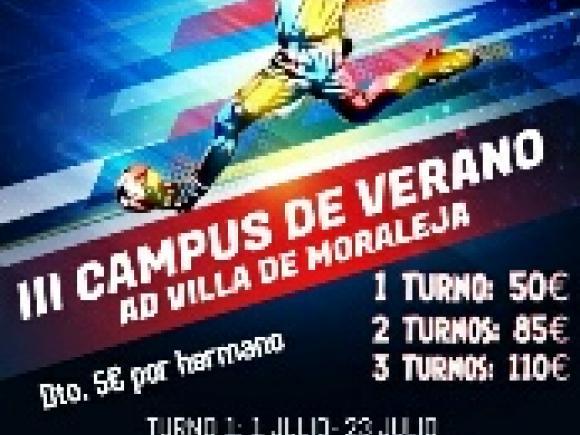 III CAMPUS DE VERANO AD VILLA DE MORALEJA
