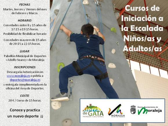 CURSO DE INICIACIÓN A LA ESCALDA NIÑOS/AS, ADULTOS/AS