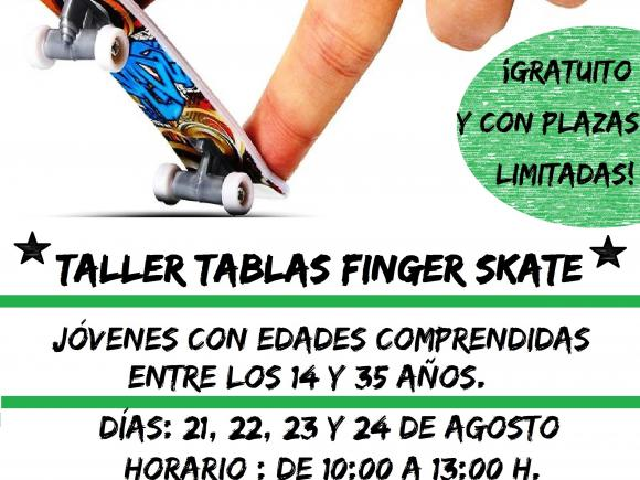 TALLER TABLAS FINDER SKATE. GRATUITO