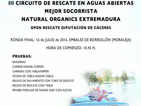 III CIRCUITO DE RESCATE EN AGUAS ABIERTAS MEJOR SOCORRISTA NATURAL ORGANICS EXTREMADURA