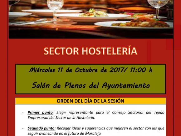 CONVOCATORIA REUNIÓN SECTOR HOSTELERÍA