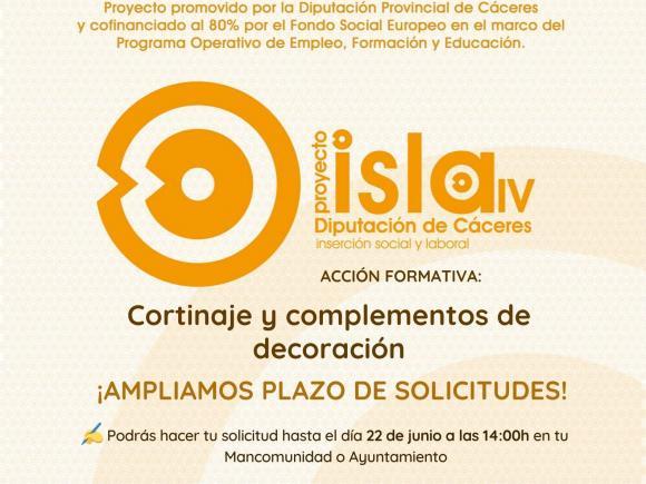 SE AMPLÍA EL PLAZO DE SOLICITUDES DEL CURSO DEL PROYECTO ISLA