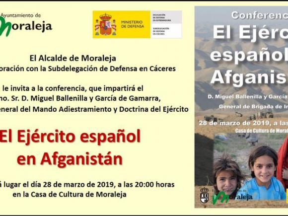 """CONFERENCIA """"El EJÉRCITO ESPAÑOL EN AFGANISTÁN"""""""