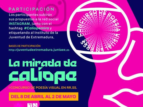 """EL I CONCURSO DE POESÍA VISUAL EN REDES SOCIALES """"LA MIRADA DE CALÍOPE"""" COMIENZA EL 8 DE ABRIL"""