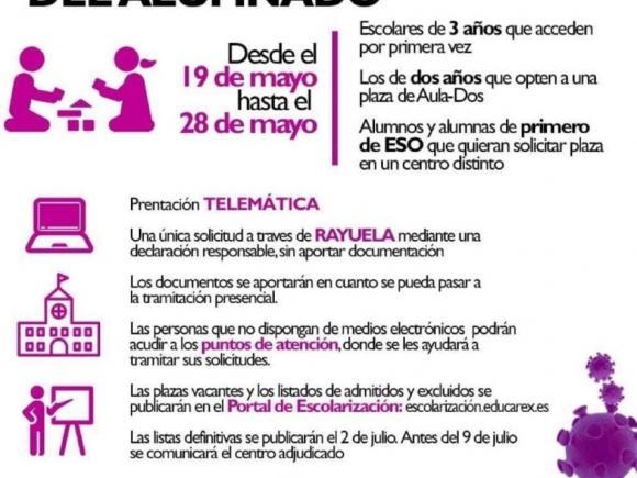 PROCESO DE ADMISIÓN Y MATRICULACIÓN PARA EL CURSO ESCOLAR 2020/2021