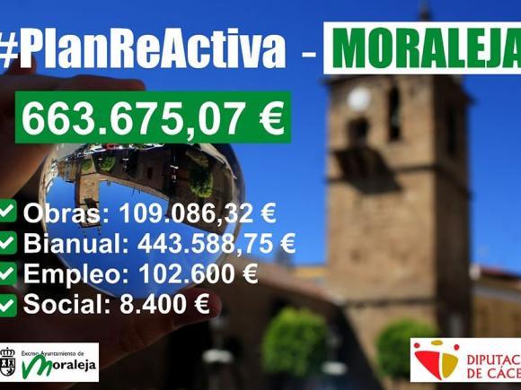 LA EXCMA. DIPUTACIÓN PROVINCIAL DE CÁCERES #REACTIVAPARA MORALEJA SE HAN CONCEDIDO 109.086,32 €