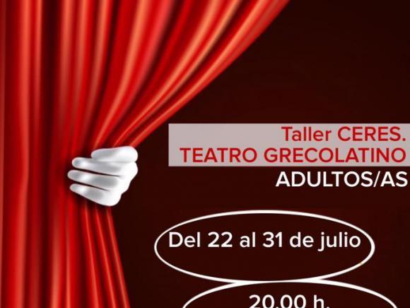 TALLER DE TEATRO GREGOLATINO CERES.PARA ADULTOS