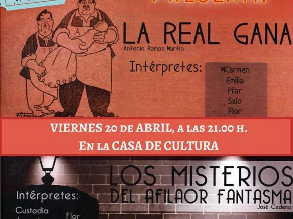 """SEMANA DEL LIBRO GRUPO DE TEATRO EL ARRABAL PRESENTA """"LA REAL GANA"""""""