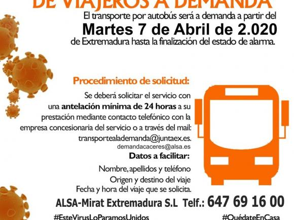 TRANSPORTE REGULAR DE VIAJEROS A DEMANDA