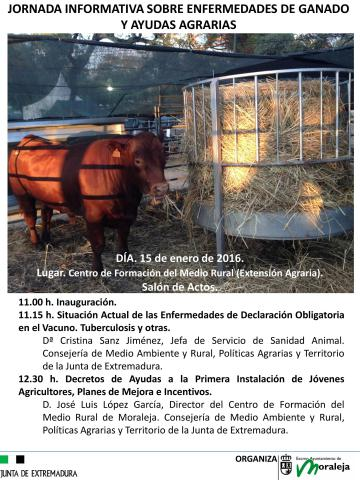 JORNADA INFORMATIVA SOBRE ENFERMEDADES DE GANADO Y AYUDAS AGRARIAS