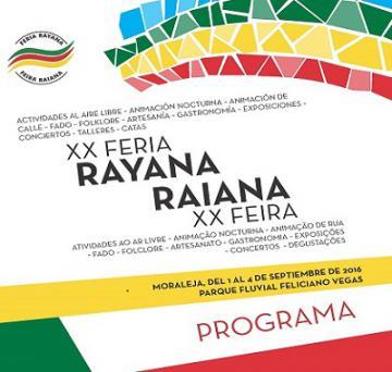 PROGRAMA DE LA XX FERIA RAYANA EN MORALEJA