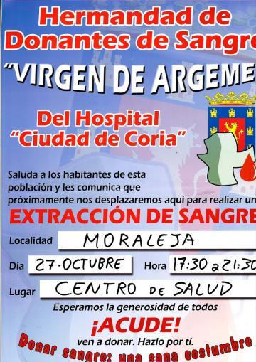 EXTRACCIÓN DE SANGRE EN MORALEJA