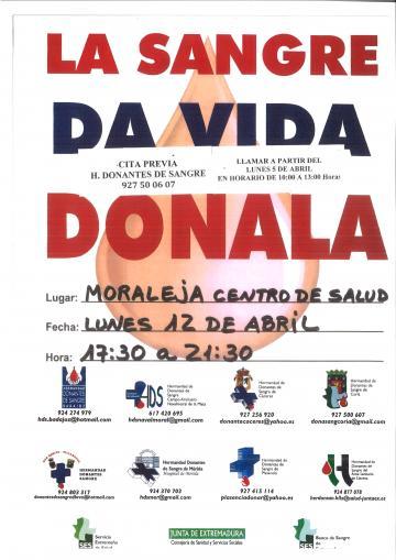 LA SANGRE DA VIDA ¡DONALA!!