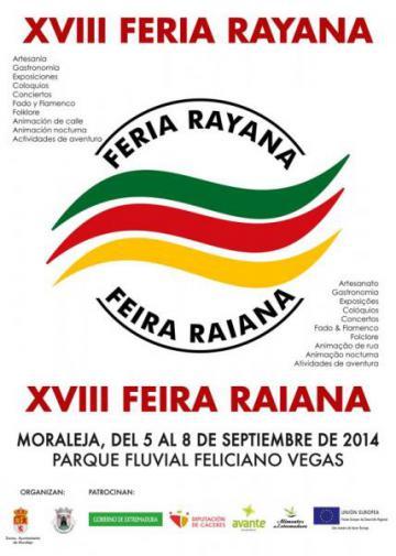 La XVIII FERIA RAYANA se celebrará en el parque Feliciano Vegas del 5 al 8 de Septiembre.