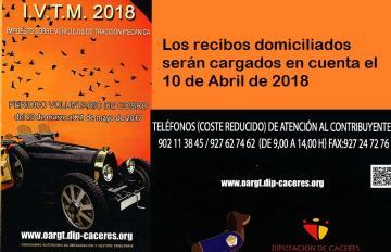IMPUESTO DE VEHÍCULOS DE TRACCIÓN MECÁNICA 2018