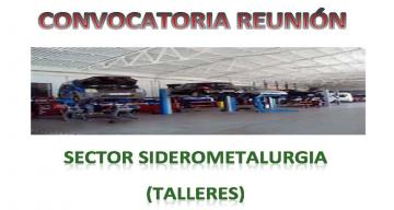 CONVOCATORIA REUNIÓN SECTOR SIDEROMETALURGIA