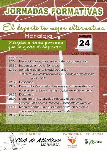 JORNADAS FORMATIVAS, EL DEPORTE TU MEJOR ALTERNATIVA