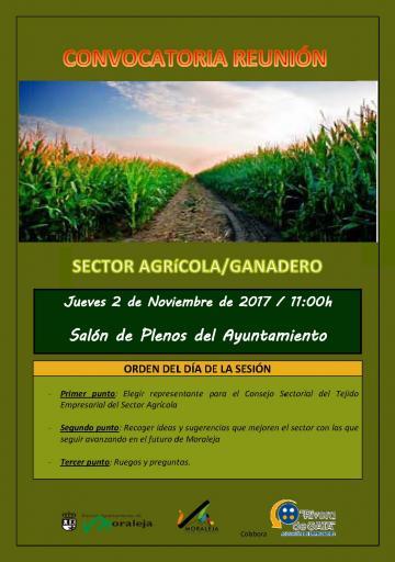 CONVOCATORIA REUNIÓN SECTOR AGRíCOLA/GANADERO