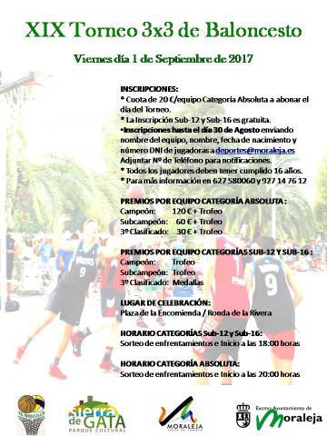 XIX TRONEO 3X3 DE BALONCESTO