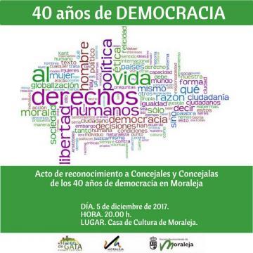 CELEBRACIÓN 40 AÑOS DE DEMOCRACÍA