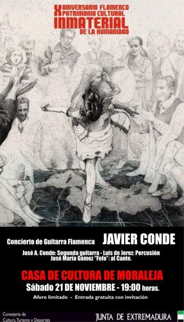 CONCIERTO DE GUITARRA FLAMENCA A CARGO DE JAVIER CONDE.