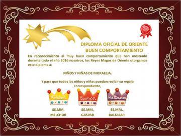 DIPLOMA OFICIAL DE ORIENTE AL BUEN COMPORTAMIENTO