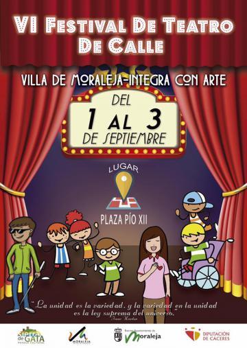 FESTIVAL DE TEATRO DE CALLE VILLA DE MORALEJA INTEGRA CON ARTE
