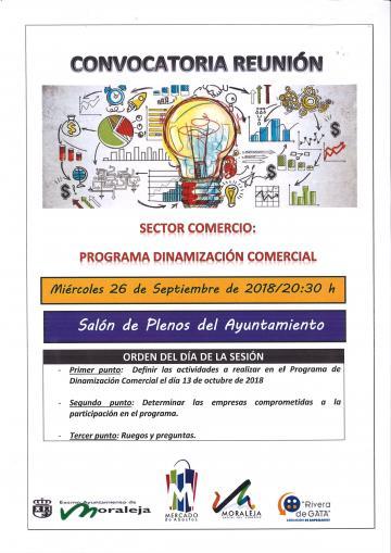 CONVOCATORIA REUNIÓN SECTOR COMERCIO