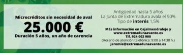 MICROCRÉDITOS PARA PYMES Y AUTÓNOMOS POR IMPORTE DE 25.000€. SIN AVALES Y CON UN AÑO DE CARENCIA