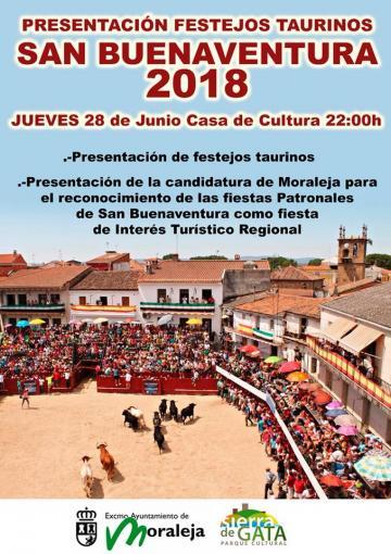 PRESENTACIÓN FESTEJOS TAURINOS SAN BUENAVENTURA 2018
