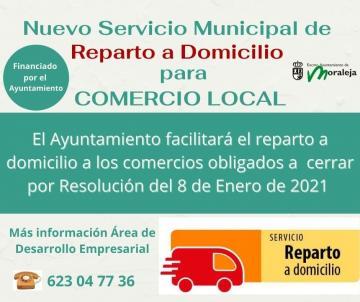 NUEVO SERVICIO MUNICIPAL DE REPARTO A DOMICILIO PARA EL COMERCIO LOCAL