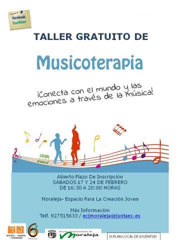 TALLER GRATUITO DE MUSICOTERAPIA