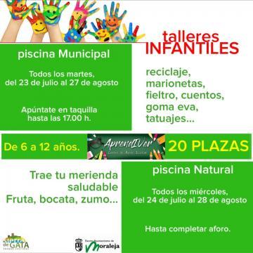 TALLERES INFANTILES EN PISCINA MUNICIPAL Y PISCINA NATURAL