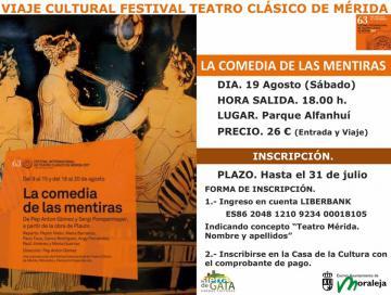 VIAJE FESTIVAL TEATRO CLÁSICO DE MÉRIDA