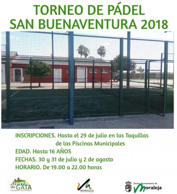 TORNEO DE PÁDEL SAN BUENAVENTURA 2018